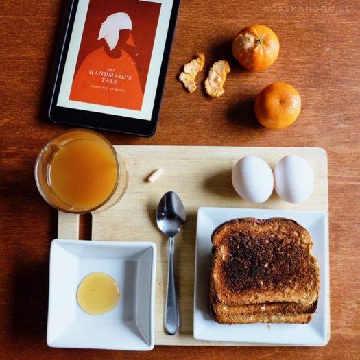 The Handmaid's Tale breakfast for Hulu binge