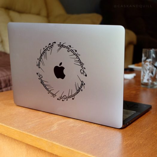 Lord of the Rings script computer decal