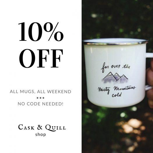 Cask & Quill 10% off mug sale